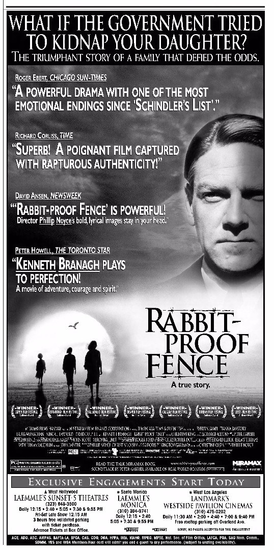 Rabbit-Proof Fence - Review - Photos - Ozmovies